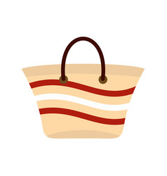 Women beach bag icon flat style vector