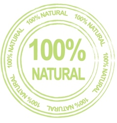 100 percent natural label vector image vector image