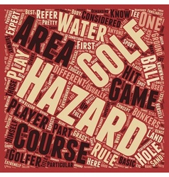 Know your course hazardous areas text background vector