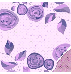 Retro flower background eps 8 vector