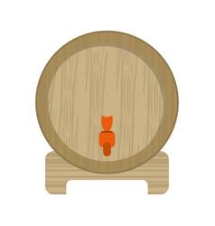 Wine barrel faucet wooden vector