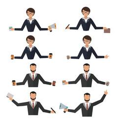 Business woman office job stress work vector