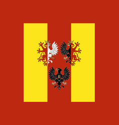 Flag of lodz voivodeship in central poland vector