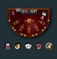 Poker table layout vector