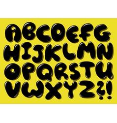 black bubble alphabet vector image