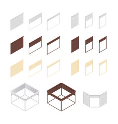 3d boxes of rolling shutters vector