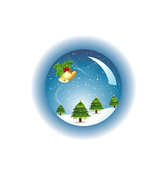 Crystal christmas ball vector