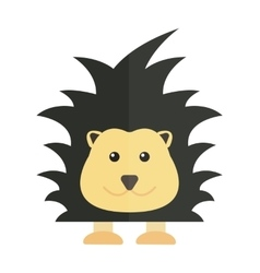 Cute cartoon porcupine australia wildlife echidna vector