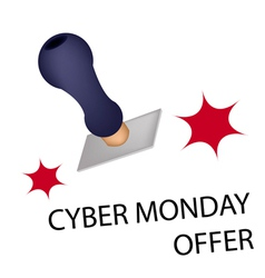 A rubber stamp with word cyber monday offer vector