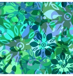 Abstract doodle seamless background vector image vector image
