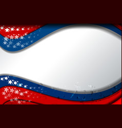 america flag color vector image vector image