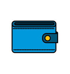blue wallet to save money vector image