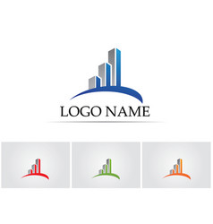 business finance logo - concept vector image