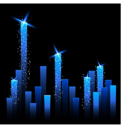 Chart with Shining Stars vector image