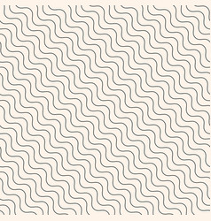 diagonal thin wavy lines seamless modern pattern vector image