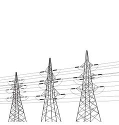 Electricity pole over white vector