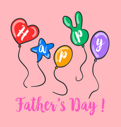 Happy father day colorful background vector