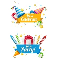 Party Card Flyer or Placard vector image