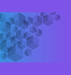 polygon background hexagons half purple vector image vector image