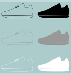 Running shoes or jogging shoes vector