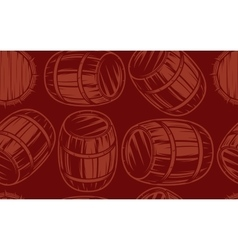 seamless background with barrels for drinks on vector image vector image
