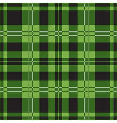 seamless green tartan-black squares white stripes vector image vector image