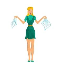 Secretary girl vector