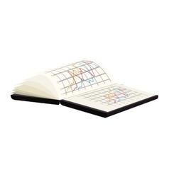 Spreadsheet notebook book vector