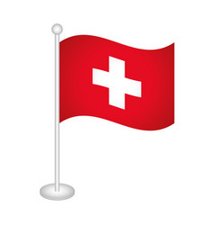 swiss flag icon vector image