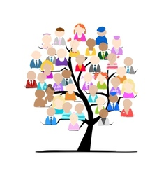 Tree with people icons for your design vector image vector image