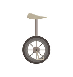 unicycle isolated bicycle wheel cycle one circus vector image vector image