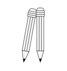 Wooden pencils isolated vector
