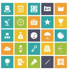 Icons plain tablet business money vector