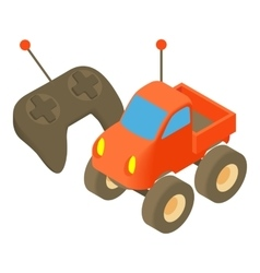 Radio-controlled car icon cartoon style vector