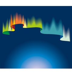 Northern lights vector image