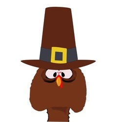 Pilgrim turkey vector
