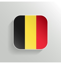 Button - Belgium Flag Icon vector image