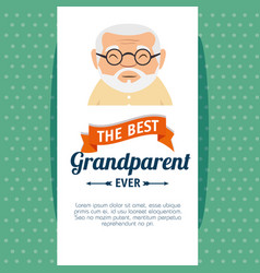 Grandparents day greeting card vector