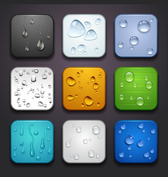 background for the app icons-water drop part vector image