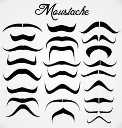 Moustache collection vector