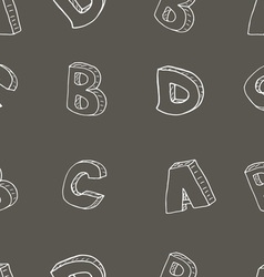 English alphabet seamless pattern sign sketch vector