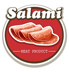 Salami sign with text vector