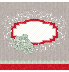 Abstract floral ornate vintage frame vector