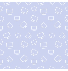 Seamless pastel pattern with monitors vector