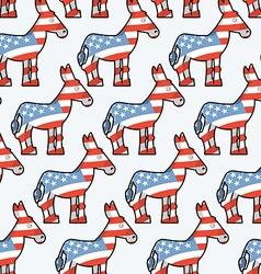 Democrat Donkey seamless pattern Donkey texture vector image