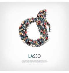 Lasso people 3d vector