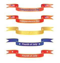 Independence day banners vector