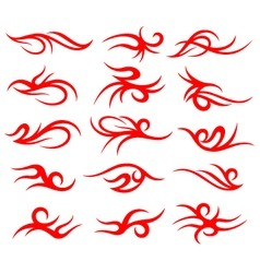 Tribal tattoo element set vector