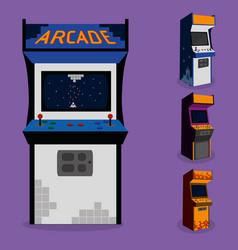 Arcade machine design vector