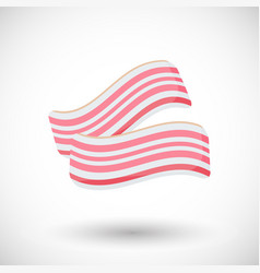 Bacon flat icon vector